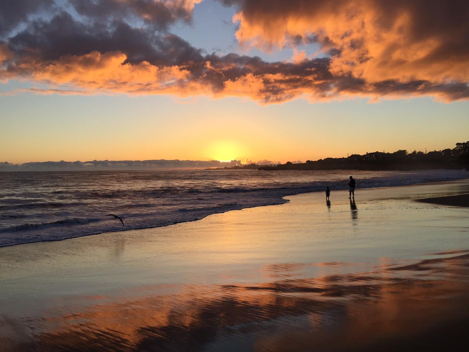 Corcoran Beach Sunset (landscape)